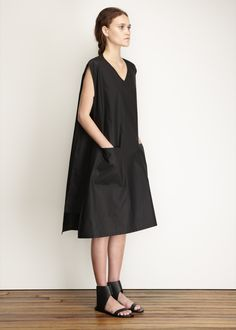 MM6 Maison Martin Margiela A-line Dress (Black)