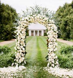 Metal Wedding Arch, Wedding Arbors, Metal Arch, Garden Wedding, White Wedding Arch, Lily Wedding, Wedding Backdrops, Floral Wedding, Party Garden