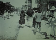 Straatbeeld van de Waterkant. Datum: Locatie: Paramaribo, Suriname Vervaardiger: Inv. Nr.:  73A-205 Fotoarchief Stichting Surinaams Museum