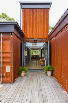 Container House - Entry Way- Smoky Park Supper Club Building A Container Home, Storage Container Homes, Container Buildings, Container Architecture, House Architecture, Container Shop, Container Cabin, Cargo Container, Sustainable Architecture