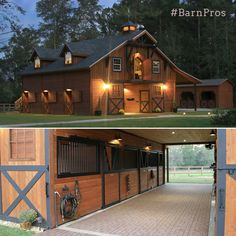 Love this barn! Needs to be bigger for the horses on the ranch, though! And that brick floor...sigh.