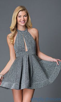 Holiday Short Fit and Flare Dress at SimplyDresses.com