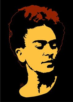 Minimalist impression of Frida Kahlo