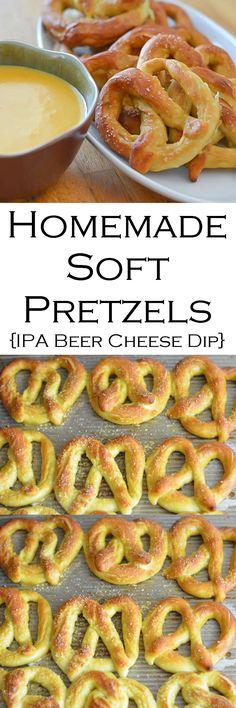 Homemade Soft Pretzels + IPA Beer Cheese Dip