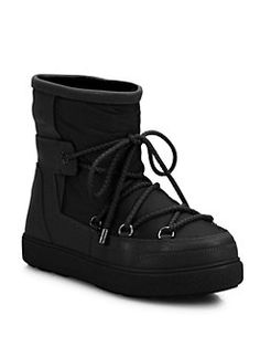 Moncler - New Fanny Lace-Up Ankle Moon Boots