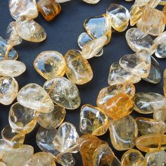 16in Citrine Large Chip gemstone jewellery making Beads Assorted size 10 - 20mm