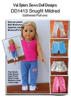 Sewing Doll Clothes, American Doll Clothes, Sewing Dolls, Girl Doll Clothes, Doll Clothes Patterns, Clothing Patterns, Girl Dolls, American Girl Diy, Bell Bottom Pants