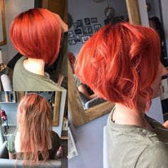 Natural red hair is breathtaking. It is a color that can't be replicated and makes short hair look stunning and unique. Although some of us aren't bor... Long Pixie Bob, Red Pixie, Copper Red Hair, Natural Red Hair, Funky Short Hair, Short Hair Styles, Colored Short Hair, Long Pixie Hairstyles, Formal Hairstyles