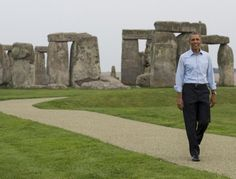 Wiltshire, England  - 54 Iconic Pictures from President Obama's International Travels
