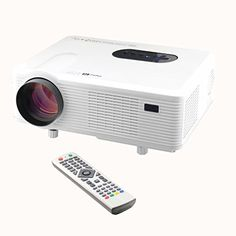 Proyector Excelvan CL720D HD LED DVB-T (3000 Lumenes, 1080P HDMI, VGA, AV…