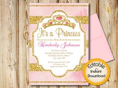Personalize this editable invitation template yourself by typing over the text in Adobe Reader. Easily change the words. Perfect for your Baby Shower. Just edit, print and cut. Uses A7 envelopes. ** IF YOU NEED A SINGLE EDITED 5 x 7 CARD FORMATTED AS JPG PLEASE CONVO ME WITH THE INFORMATION AFTER PURCHASE, I CAN DO IT FOR YOU.  ** This file is an INSTANT DOWNLOAD Printable PDF file. Nothing physical will be mailed to you. ** ------------------------- MATCHING ITEMS: to see all matching…