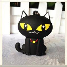 [Visit to Buy] animal cartoon black cat USB Flash Drive 4GB 8GB Memory Card Stick 16GB 32GB Thumb/Car key/Pendrive U Disk/creative Gift #Advertisement