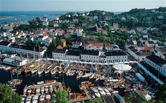 Visit Risor, Norway: one of the ancestral homes of the Hedemark family. Norway Viking, Kristiansand, Sea Side, White City, Small Towns, 18th Century, Lp, Vikings, Paris Skyline