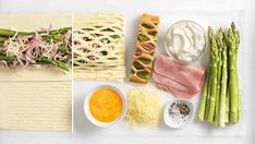 Antipasto Skewers - The Sweetest Occasion Pizza Wraps, Antipasto Skewers, Asparagus Recipe, Ham, Guacamole, Cravings, Nom Nom, Brunch, Food And Drink