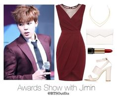 Awards Show with Jimin by btsoutfits on Polyvore featuring TFNC, Topshop, Fabiola Pedrazzini, Lana and Lancôme