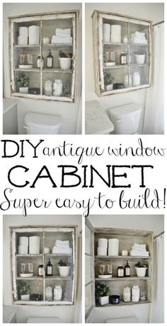 22 DIY Antique Window Cabinet