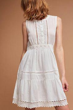 Canyon Lace Dress, White