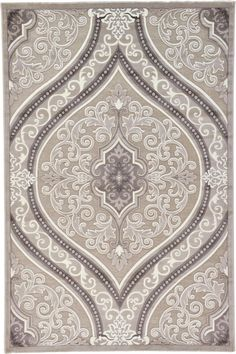 Light Brown 6' 6 x 9' 11 Damask Rug | Area Rugs | eSaleRugs