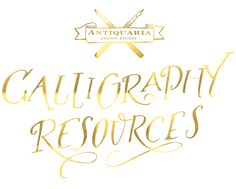 Antiquaria: Calligraphy Tutorial | Calligraphy Resources