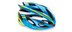 Rudy Project Cycling Helmet - RUSH YOUTH HELMET AZUR-LIME-FLUO SHINY