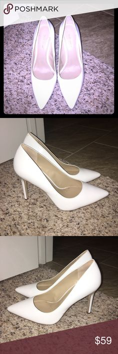 BCBGeneration White Pumps. Size 9M. Never worn. BCBGeneration White Pumps. Size 9M. Never worn. ADORABLE with jeans or dressed up! BCBGeneration Shoes Heels
