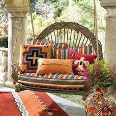 hängesessel für terrasse-und garten-korbgeflecht wohnliche-textilien