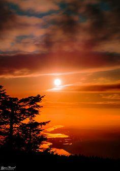 Sunset at Larch Mountain, Oregon