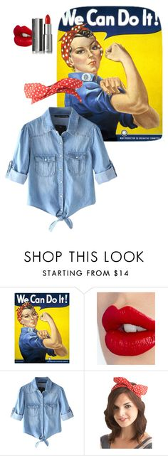 """We Can Do It! ?"" by kayla-santella ❤ liked on Polyvore featuring Charlotte Tilbury, Chicnova Fashion and Givenchy"