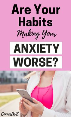 These 12 habits could be making your anxiety worse. It's important to be mindful of your habits because they could be making your anxiety worse. Avoid these 12 bad habits and quickly reduce your anxiety. Anxiety Self Help, How To Cure Anxiety, Anxiety Causes, Health Anxiety, Anxiety Tips, Stress And Anxiety, Depression Remedies, Depression Symptoms, Coping With Depression