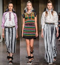Платья и другие наряды в полоску 2017