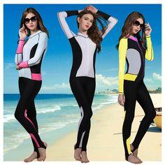 59.80$  Buy now - http://alizqe.worldwells.pw/go.php?t=32767466551 - Hisea 0.5mm Neoprene Wetsuit Women Swimsuit Equipment For Diving Scuba  Swimming Surfing Spearfishing Suit Triathlon Suits
