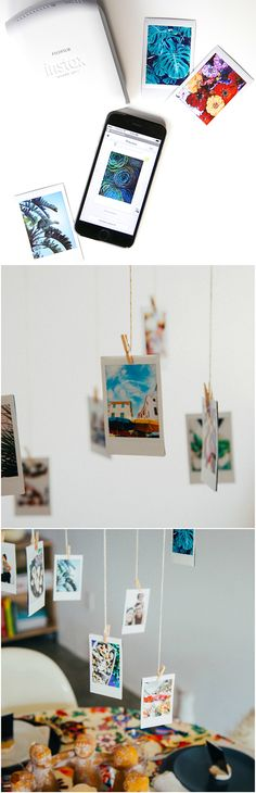 DIY photo mobile! Project by @justinablakeney for @INSTAXamericas  #instax