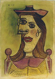 Tête de femme au chapeau, 1939, Pablo Picasso