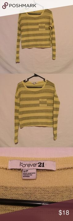 ❤️Forever 21 Sweater❤️ Great condition. Size small. Yellow and grey knit sweater. Forever 21 Tops Tees - Long Sleeve