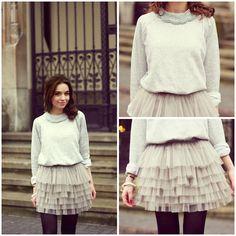 Tulle skirt (by Weronika Z.) http://lookbook.nu/look/4445199-Tulle-skirt