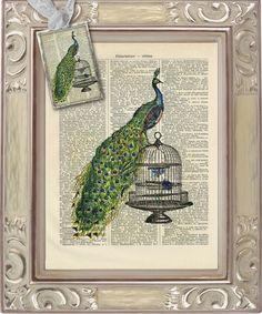 PFAU print & charm Set i20   von Vintage Prints auf DaWanda.com