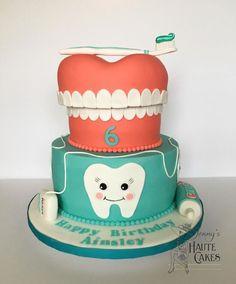 by Jenny Kennedy Jenny's Haute Cakes Fondant Cakes, Cupcake Cakes, Dental Cake, Haute Cakes, Tooth Cake, Funny Cake, Candy Cakes, Novelty Cakes, Love Cake