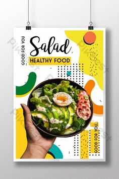 Promotion healthy food poster#pikbest#templates Healthy Fruits And Vegetables, Healthy Salads, Healthy Drinks, Healthy Food, Healthy Recipes, Dinner Healthy, Eating Healthy, Clean Eating, Food Graphic Design