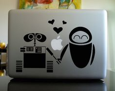 Apple Macbook Vinyl Decal Sticker - Wall-E Macbook Decal Stickers, Wall Stickers, Vinyl Decals, Wall E, Love Wall, Walle Y Eva, Disney Junior, Disney Jr, Disney Fanatic