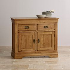 French Farmhouse Rustic Solid Oak Small Sideboard - French Farmhouse (Rustic Solid Oak) - Shop by Range