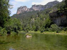 Dans les gorges de la Dourbie, Aveyron, France