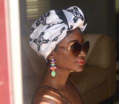 head scarf #Africa #Clothing #Fashion #Ethnic #African #Traditional #Beautiful #Style #Beads #Gele #Kente #Ankara #Africanfashion #Nigerianfashion #Ghanaianfashion #Kenyanfashion #Burundifashion #senegalesefashion #Swahilifashion ~DK