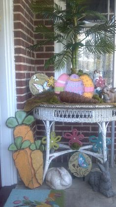Easter Vignette - My Porch