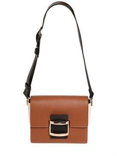 roger vivier - women - shoulder bags - mini viv leather shoulder bag