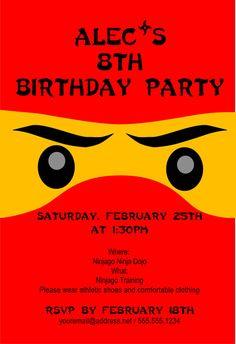 Ninjago Birthday Invitation  Personalized Invitation by TCCreative
