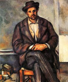 Seated Peasant Artist: Paul Cezanne Completion Date: 1900 Style: Post-Impressionism Period: Final period Genre: portrait Technique: oil Material: canvas Dimensions: 54.6 x 45 cm Gallery: Philadelphia Museum of Art, Philadelphia, PA, USA