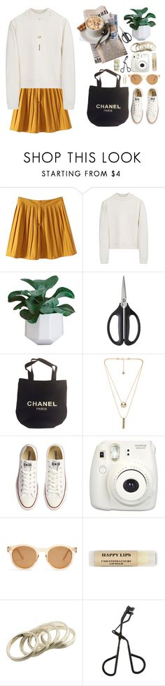 """""""Bonjour"""" by gitasamudra ❤ liked on Polyvore featuring Acne Studios, OXO, Chanel, House of Harlow 1960, Converse, Fujifilm, Le Specs, Topshop and CO"""