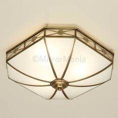 Bannerman Art Deco Flush Fitting Ceiling Light - Ceiling Lamps - Lighting - Home Decor