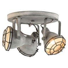 Do - cementkleur Leen Bakker Office Lighting, Shop Lighting, Track Lighting, Industrial Lighting, Industrial Style, Boys Jungle Bedroom, Childrens Lamps, Contemporary Home Furniture, Lights
