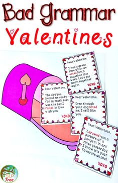 Speech therapy valentine's day grammar activity. Irregular past tense verbs, subject verb agreement, and pronouns.